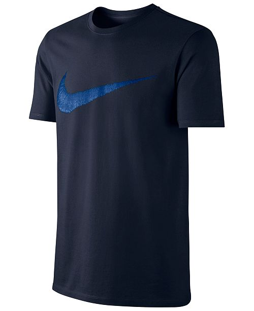 Nike Men's Hangtag Swoosh T-Shirt & Reviews - T-Shirts - Men ...