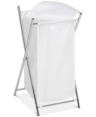 Honey-Can-Do Chrome Folding Hamper with Cover