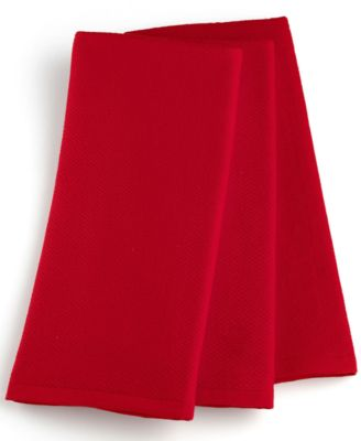 Martha Stewart Collection Pique Kitchen Towels Set of 3, Red