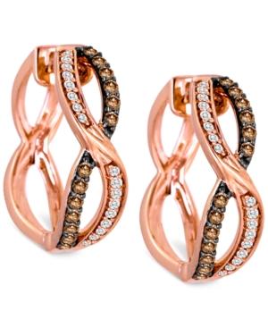 Le Vian Chocolatier? Diamond Hoop Earrings (3/8 ct. t.w.) in 14k Rose Gold