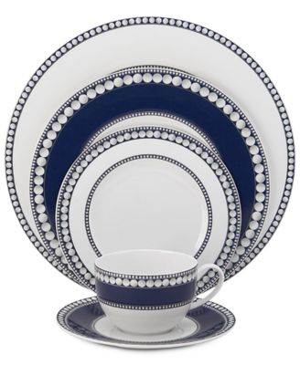 Mikasa Dinnerware Bone China 5-Pc. Akoya Cobalt Place Setting
