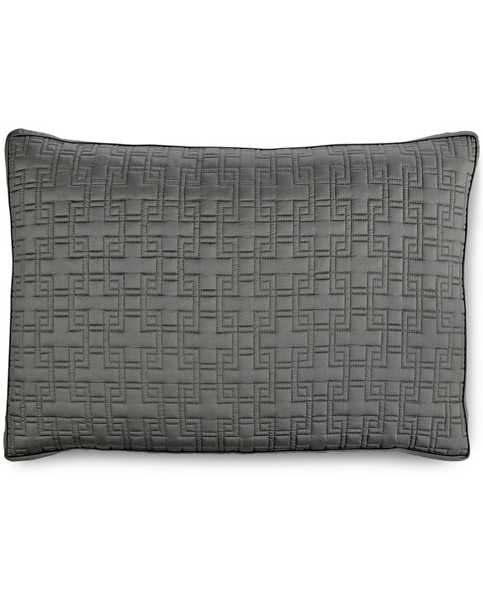 Hotel Collection - Embroidered Frame Quilted King Sham