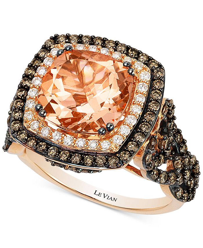 Le Vian - Morganite (2-9/10 ct. t.w.) and Diamond (1-1/3 ct. t.w.) Ring in 14k Rose Gold