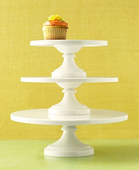 Macy s Dining Entertaining Martha Stewart Collection Whiteware Cake Stands from macys.com