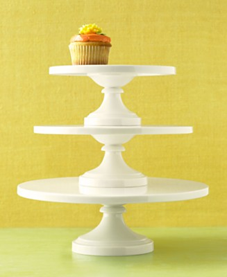 Martha Stewart Collection Whiteware Cake Stands - CUSTOMERS' TOP RATED Serveware - Dining & Entertaining  - Macy's