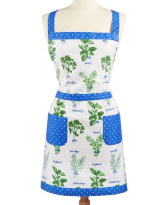 Martha Stewart Collection Hand Picked Herbs Embroidered Apron, Only at Macys