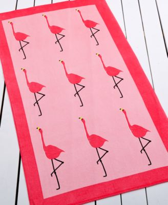 Whim by Martha Stewart Collection Flamingo Beach Towel, Only at Macy's