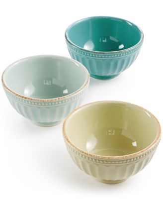 Lenox French Perle Groove Collection Stoneware 3-Pc. Mini Bowls Set