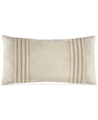 "Hotel Collection Linen Stripe 12"" x 24"" Decorative Pillow, Only at Macy's"