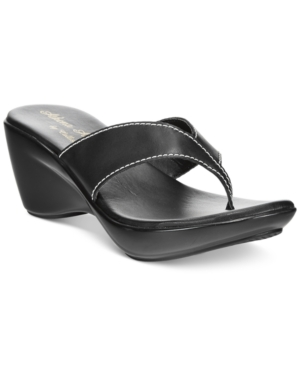 Athena Alexander by Callisto Abby Thong Wedge Sandals Women's Shoes