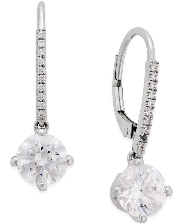 Arabella - Swarovski Cubic Zirconia Earrings in 14k White Gold
