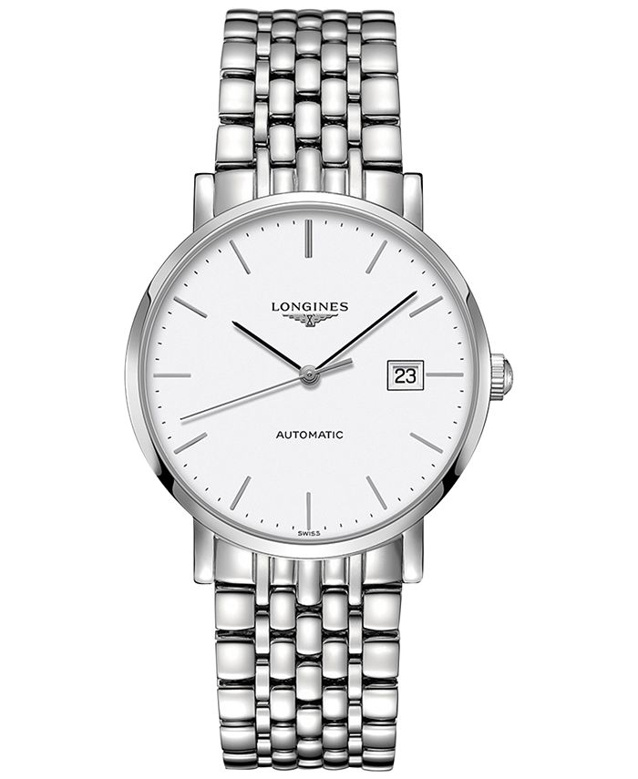 Longines - Men's Swiss Automatic The  Elegant Collection Stainless Steel Bracelet Watch 39mm L49104126
