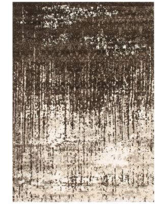 """Fusion Ivory/Brown 5'3"""" x 7'7"""" Area Rug"""
