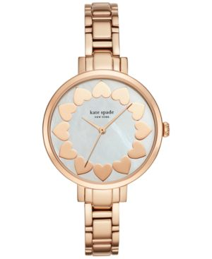 kate spade new york Women's Gramercy Rose Gold-Tone Stainless Steel Bracelet Watch...