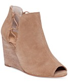 Lucky Brand Womens Reevas Peep-Toe Booties Womens Shoes