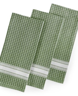 Martha Stewart Collection 3-Pc. Waffle Weave Kitchen Towels, Only at Macy's
