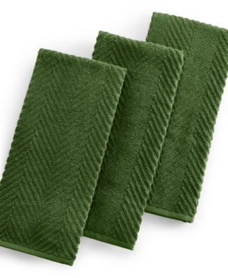 Martha Stewart Collection 3-Pc. Green Textured Terry Towel Set, Only at Macy's