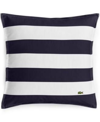 "Lacoste Striped Pieced 18"" Square Decorative Pillow"