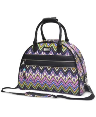 Steve Madden Patchwork Dome Satchel, Only at Macy's