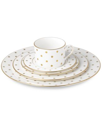 kate spade new york Larabee Road Gold Bone China 5-Pc. Place Setting