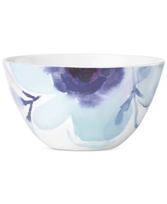 Lenox Indigo Watercolor Floral Porcelain All-Purpose Bowl, A Macy's Exclusive Style
