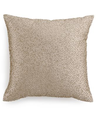 "Hotel Collection Finest Sunburst Beaded 16"" Square Decorative Pillow, Only at Macy's"