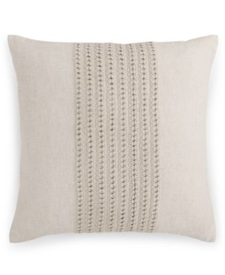"Hotel Collection Textured Lattice Linen 20"" Square Decorative Pillow, Only at Macy's"