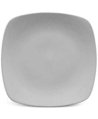 Noritake Gray On Gray Swirl Porcelain Square Salad Plate