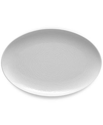 Noritake White On White Swirl Porcelain Oval Platter