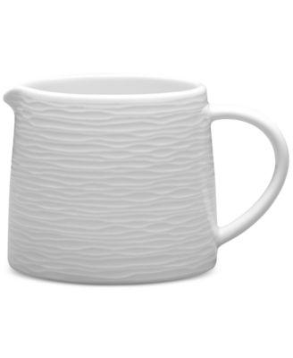 Noritake White On White Swirl Porcelain Creamer