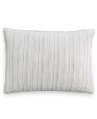 Hotel Collection Linen Fog Quilted Standard Sham, Only at Macy's