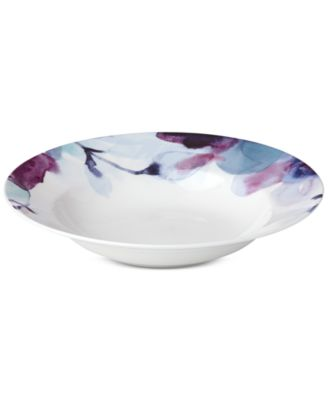 Lenox Indigo Watercolor Floral Rim Soup Bowl, a Macy's Exclusive Style