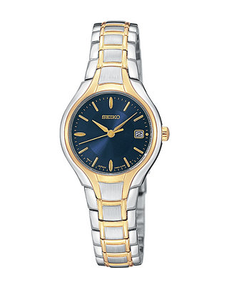Seiko Watch, Women's Two Tone Stainless Steel Bracelet SXDA34