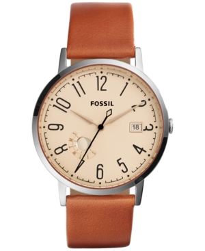Fossil Women's Vintage Muse Tan Leather Strap Watch 40mm ES3958
