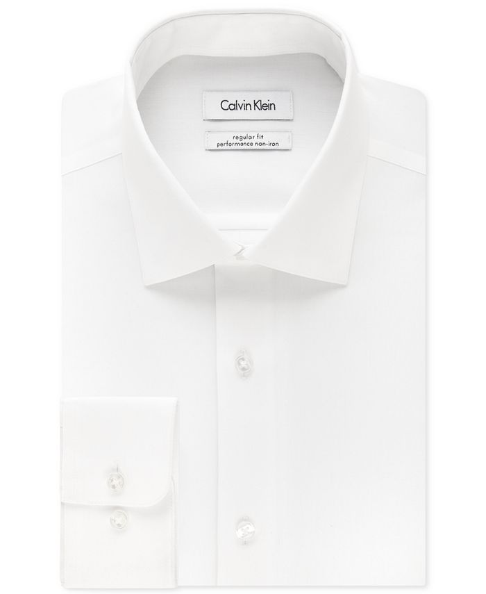 Calvin Klein - STEEL Men's Classic Fit Non-Iron Performance Solid Dress Shirt