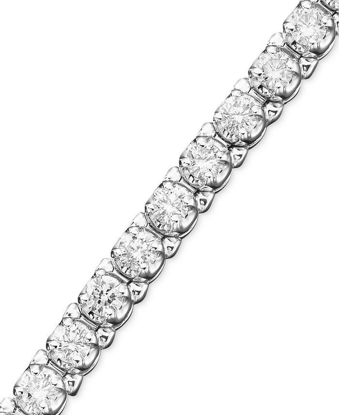 Macy's - Certified Diamond Bracelet in 14k White Gold (5 ct. t.w.)