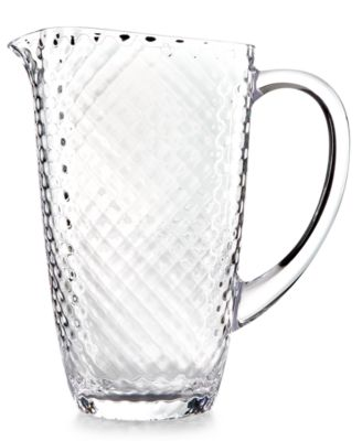 Home Design Studio Clear Acrylic Drinkware Collection Pitcher, Only at Macy's