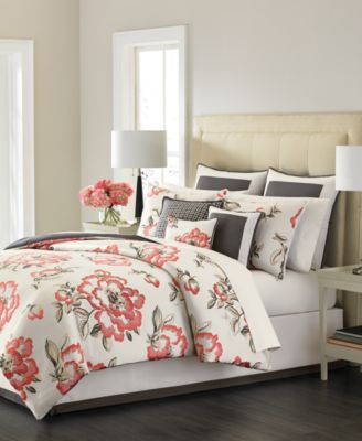 Martha Stewart Collection Peony Blossom 9-Piece Queen Bedding Set, Only at Macy's