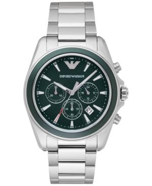 Emporio Armani Men's Chronograph Sigma Stainless Steel Bracelet Watch 44mm AR6090