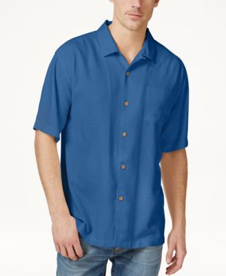 Image of Tommy Bahama Men's Tiki Palms Silk Short-Sleeve Shirt, A Macy's Exclusive Style