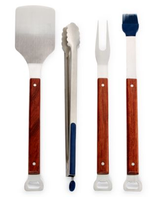 Martha Stewart Collection Wood 4-Pc Grilling Set