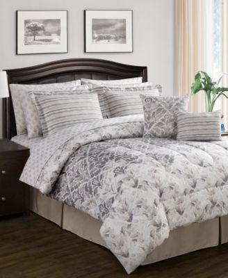 CLOSEOUT! Verano Reversible 12-Pc. King Comforter Set