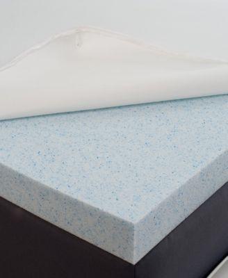 CLOSEOUT! Authentic Comfort 2'' BioFresh Gel Memory Foam Queen Topper