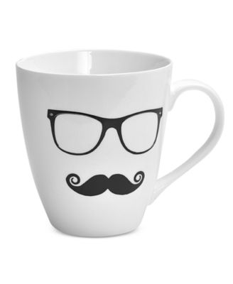 Pfaltzgraff Men's Glasses And Mustache Mug