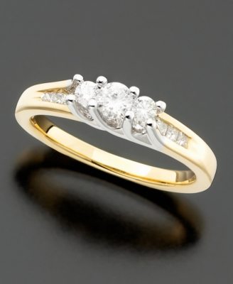 14k Two-Tone Gold Diamond Ring (1/2 ct. t.w.)