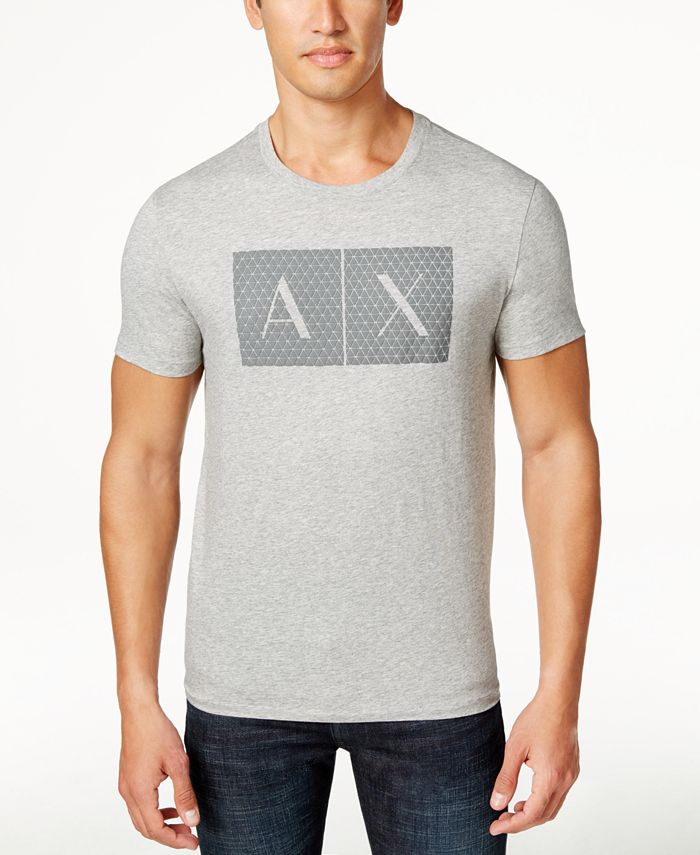 A|X Armani Exchange - Men's Triangulation Graphic-Print Logo T-Shirt