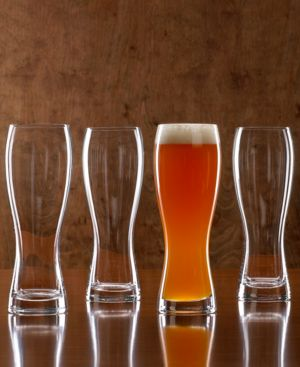 Closeout! Mikasa Glassware, Set of 4 BrewMaster's Wheat Beer Glasses