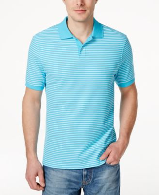 Image of Club Room Performance UV Protection Short-Sleeve Stripe Polo