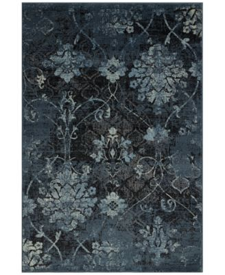 "D Style Menagerie MEN2161 Denim 3'3"" x 5'1"" Area Rug"