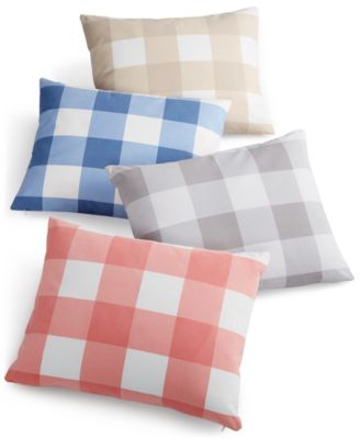 "Charter Club Damask Designs Gingham 14"" x 18"" Decorative Pillow, Only at Macy's"